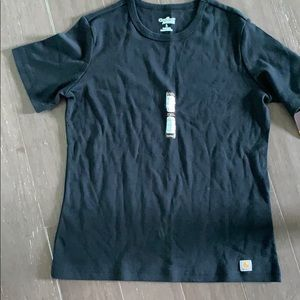 NWT carhartt for women black T shirt L 12-14